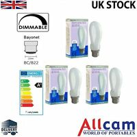 3 Pack Allcam 7W Dimmable LED Light Bulb Bayonet B22 630lm ~60W Incandescent