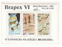 S18996) Brasilien Brazil 1985 MNH Neu Brapex VI S/S
