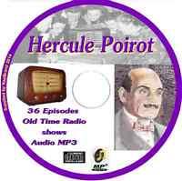 Hercule Poirot 38 OTR Old Time Radio Episodes Audio MP3 on CD Agatha Christie