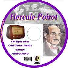 Hercule Poirot 38 OTR Old Time Radio Episodes Audio MP3 on CD Agatha Christie
