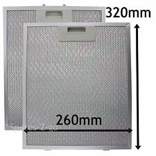 2 x Metal Mesh filter For CANNON Cooker Hood Vent Filters 320 x 260 mmk