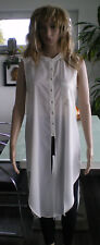 MANGO Longbluse Longshirt Longtop Vokuhilabluse Bluse Weiß Grösse M