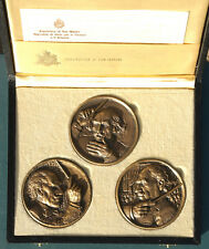 San Marino, Toscanini, Italian, conductor, SET 3 medals, USA, A. Berti