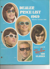 CD of digital images Vintage Ray Ban Sunglasses DEALER LIST 1969 B&L USA catalog