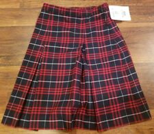 Becky Thatcher Skirt Uniform Blue & Red Plaid Style 3953 Girls Size 4 Teen Nwot
