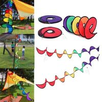 1x Spiral Multicolor Wind Windsock Twister Lawn Garden Yard Outdoor Decor Nice