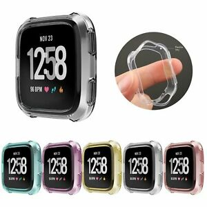 TPU Silicone Cover Case Watch Casing Guard Protector For Fitbit Versa Smart Band