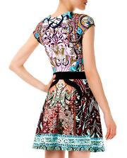 Mary Katrantzou Sirene Falsa Liala Printed Banded Waist Ponte A-Line Dress M NWT