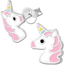 Ohrringe K305 Einhorn Pferde Ohrstecker für Kinder Mädchen 925er echt Silber 925
