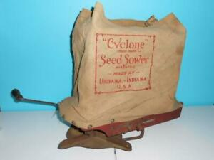 Antique Vintage Cyclone Hand Crank Seeder Sower Spreader Farmhouse Decor