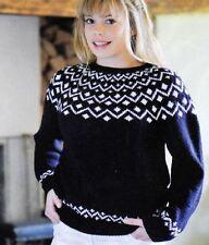 Knitting Pattern Lady's Fair Isle Sweater 81-107 cm   (59)