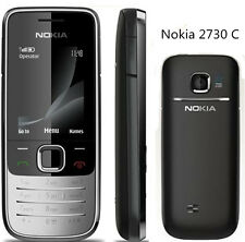 Original Unlocked SIM Nokia 2730 Classic Silver/Black 3G Mobile Cell Bar Phone