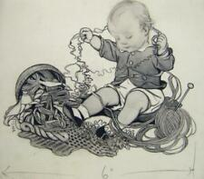 ILLUSTRATIONS  A GREAT TANGLE SUSAN BEATRICE PEARSE INK/WASH 1928