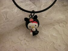 Resin HELLO KITTY Pig 3D Sanrio Charm Black Corded Bail Pendant Necklace/Jewelry