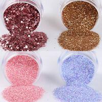 4Boxes/Set Colorful Nail Art Glitter Powder Sheets  Decoration 10ml