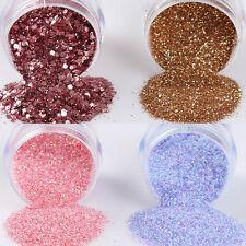 4Boxes/Set Colorful Nail Art Glitter Powder Sheets Manicure Decor Tips 10ml