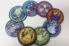 A set of 8 Kingdom Hearts Stained glass Sora and Princess Neoprene Coasters