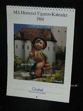 Goebel Hummel Kalender Calendar 1984, Titelbild Wanderbub, Junge mit Schirm