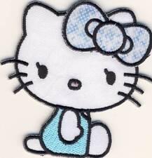 Hello Kitty - Candy blau - Aufnäher Aufbügler Bügelbild Patch - Neu #9118