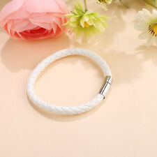 Fashion Men's Leather Braided Bracelet Magnet Clasp Bangle Wristband Gift