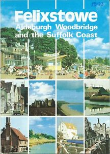 FELIXSTOWE 1989 Official Holiday Guide information illustrated adverts Suffolk