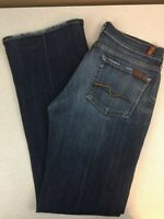 7 For All Mankind Low Rise Boot Cut Jeans - Medium Wash - Size 29