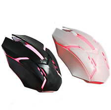 Gaming Mouse USB Wired 3 Button LED Breathing Fire Button 3200 DPI Laptop PC USA