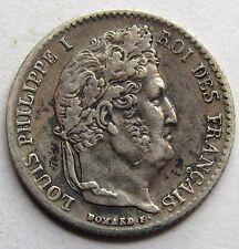 Louis-Philippe Ier - 1/4 de Franc - 1842 B - Rouen -
