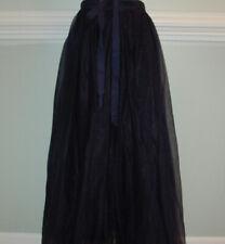 JCrew $198 Tulle Ball Skirt Sz 4 Navy Blue G3512 party formal
