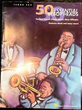 50 Essential Bebop Head for Tenor Sax Hal Leonard Music Book Woodwind Instrument