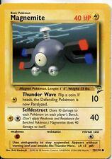 Pokemon Base Set 2 Common Card #79/130 Magnemite
