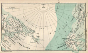 Greenland, Spitzbergen & Franz Josef Land. Arctic Ocean. BARTHOLOMEW 1904 map