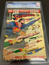 SUPERMAN #252 * CGC 8.5 * (DC, 1972) 100 PAGE GIANT!!  DC-13  NEAL ADAMS COVER!