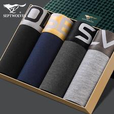 "4 Pair Men's Seamless Microfiber Boxer Brief Underpants Large Size Waist 26""-44"""