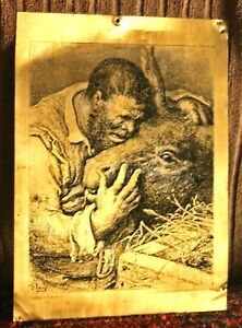 "Vintage Etched Steel/Copper Plate,Aranda Family Collection Gustave Dore 9""x 12"""