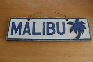 Genuine Brandy Melville Rustic Style Malibu Wooden Sign