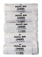 """200 x 15L pedal / guest room / kitchen bin liner bags 18"""" x 18"""" Rolled"""