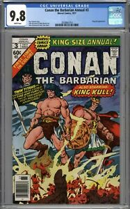 Conan the Barbarian Annual #3 CGC 9.8 NM/MT King Kull Appearance WHITE PAGES