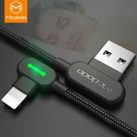 MCDODO USB 90° Elbow Fast Charging Data Cable For 8-Pin For iPhone X 8 7 6 iPad
