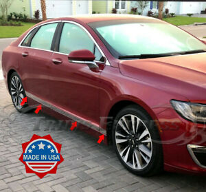 """2013-2020 Lincoln MKZ Flat Chrome Body Side Molding Trim 2 1/2"""" Stainless Steel"""