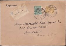 India - 1938 - Bombay Registered Cover to New Haven, Conn (CT) - Very Fine Nice
