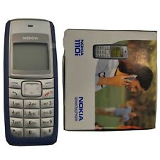 BNIB Nokia 1110i 4MB Blue Factory Unlocked Classic Mobile Phone 2G GSM Simfree