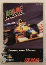 Redline F-1 Racer Super Nintendo SNES Instruction Book