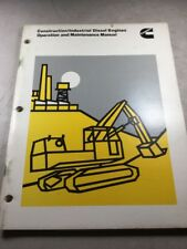 Cummins Construction/Industrial Diesel Engines Operation And Maintenance Manual