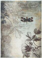 Rice Paper for Decoupage Decopatch Scrapbook Craft Sheet Vintage Botanic Garden