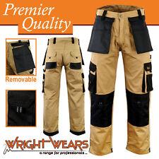 Men Work Cargo Trouser Khaki Pro-11 Multi Pockets W:34 - L:33 Like Dickies
