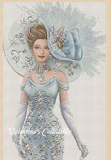 Cross Stitch Chart ELEGANT LADY in Blue Dress - No.1-156 (Large Print)