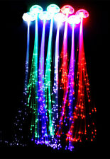 Led fiber optic clip hair light extensions ebay 10led hair extensions girls gift party bag clip pony tail fiber optic light up pmusecretfo Gallery