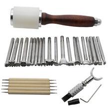 20pcs Leather Carving Working Saddle Making Tools Set DIY Hammer Swivel Knife