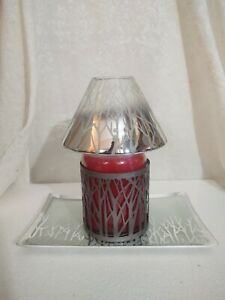 Yankee Candle Forest Glow Shade, Holder, and Plate - for Large Jar - NWT - HTF